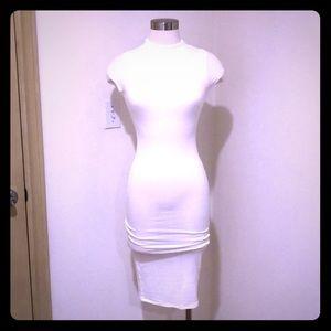 Black Bead white dress